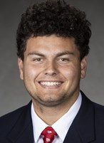 Wisconsin Badgers Deacon Hill poses for a headshot Thursday, July 8, 2021, in Madison, Wis. [Photo by David Stluka/Wisconsin Athletic Communications)